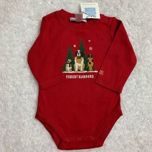 Janie and Jack Onesie forest rangers NWT